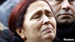 Ռաքել Դինքը մասնակցում է ամուսնու մահվան 9-րդ տարելիցին նվիրված հիշատակի միջոցառմանը, Ստամբուլ, 19-ը հունվարի, 2016թ.