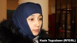 Саян Хайыровтың жұбайы Шынар Бисенбаева. Алматы, 27 қаңтар 2014 жыл.