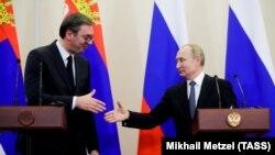 Aleksandar Vučić i Vladimir Putin, susret u Moskvi, 4. decembar 2019.