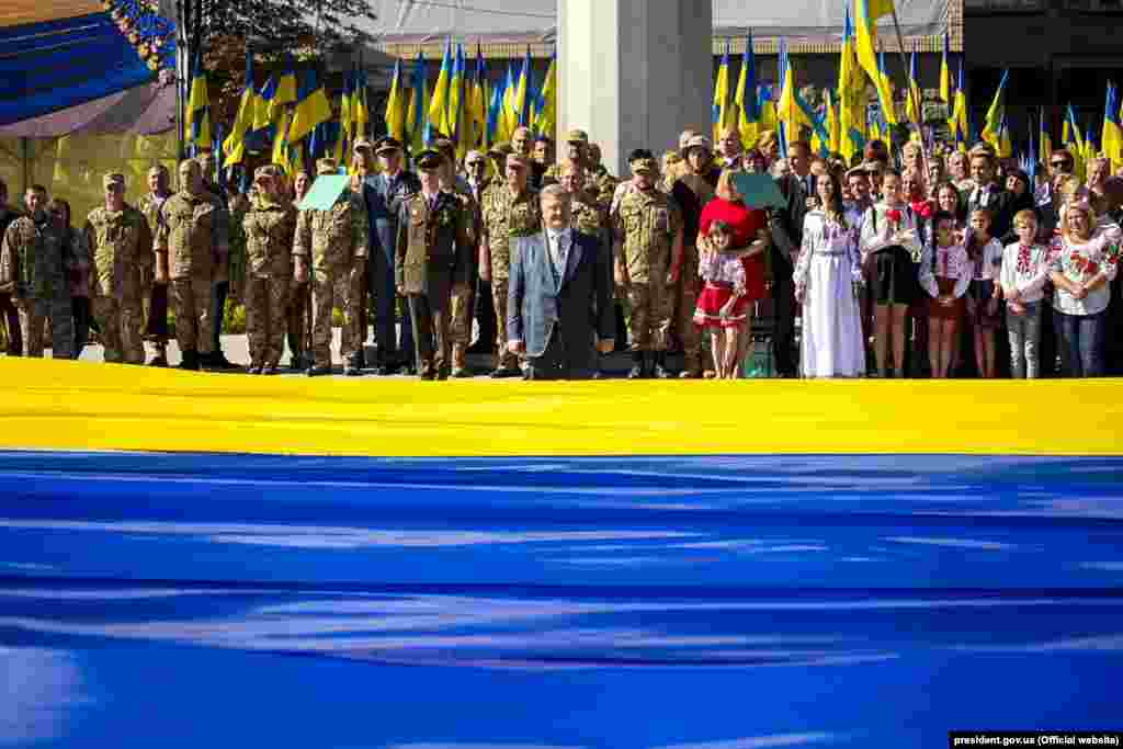 Під час відзначення Дня державного прапора України. Дніпро, 23 серпня 2018 року. НА ЦЮ Ж ТЕМУ