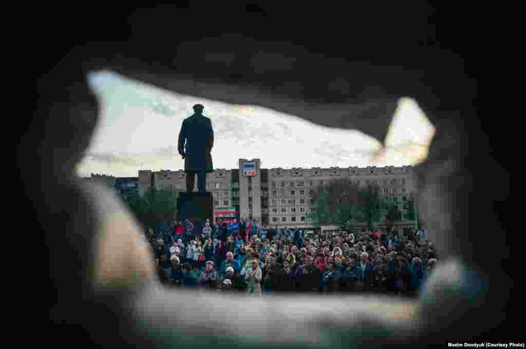 Демонстрация в Славянске.