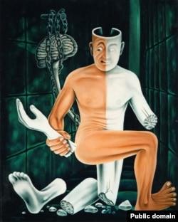"Jack Kevorkian ""Paralysis painting"" (http://davidstreetsbeverlyhills.com)"