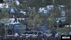 نیروی انتظای در مانور اقتدار که چندی پیش به نشانه آمادگی نیروهای پلیس انجام شد