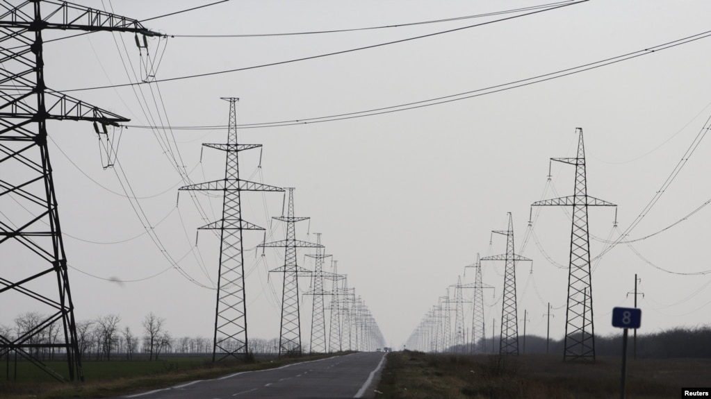 Kyiv Cuts Electricity Supply To Separatist-Held Parts Of Donetsk Region