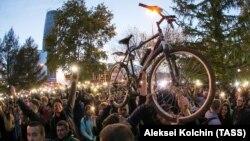 Митинг в Екатеринбурге против строительства собора
