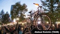 Протести в Єкатеринбурзі проти будівництва храму в сквері, 15 травня 2019 року