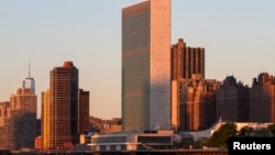 ShBA - Ndërtesa e Organizatës së Kombeve të Bashkuara në New York (Ilustrim)