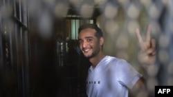 Ахмед Дума під час одного з попередніх судових засідань, Каїр, 13 травня 2013 року