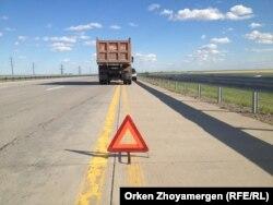 На автомагистрали Астана - Бурабай.