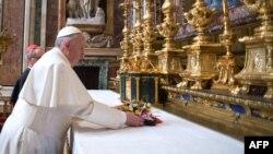Папата Франсис на денешната молитва