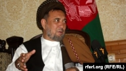 FILE: Mohammad Mohaqiq during an interview with Radio Free Afghanistan in July 2014.