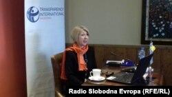 Архива: Слаѓана Тасева - претседател на Транспаренси интернешнл Македонија.