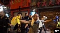 Гонконгтегі шерушілер. 19 қазан 2014 жыл.