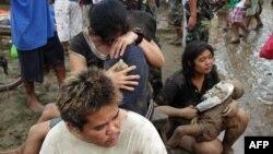 Жителите на погодениот регион на Филипини, 17 декември 2011