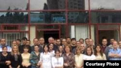 «Gündəlik Azərbaycan» və «Realnı Azərbaycan» qəzetlərinin kollektivi. 2 oktyabr 2006-cı il