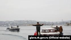 Російські малі ракетні кораблі «Серпухов» і «Зелений Дол» в анексованому Криму (архівне фото)