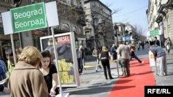 Akcija Inicijative mladih na ukazivanju ratnih zločina na Kosovu, Beograd, mart 2010
