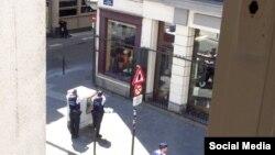 Полиция окружила подозреваемого в Брюсселе, 20 июля 2016 года.
