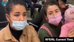 Шереметьев аэропортунда калган өзбекстандыктар.
