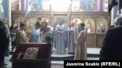 Božićna liturgija u hramu Sv. Dimitrija, foto: Jasmina Šćekić