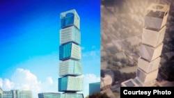 Vergilər nazirliyinin gələcək yeni binasının maketi