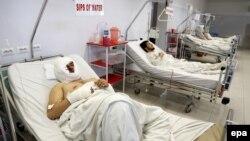 Աֆղանստան - Քաբուլի ահաբեկչության հետևանքով վիրավորվածները հիվանդանոցում, 21-ը հունվարի, 2016թ․