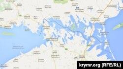 Позначення адміністративного кордону материкової України з Кримом на Google Maps