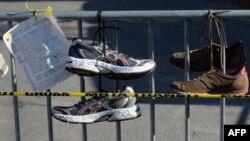Мемориал жертвам взрыва во время марафона в Бостоне 2013 года