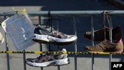 Бостондогу жардыруунун курмандыктарынын урматына арналган акция.