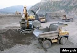 Строительные работы на Рогунской ГЭС.