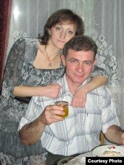 Галіна з мужам Алегам