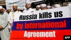 Ливанские сунниты протестуют против российских бомбардировок в Сирии