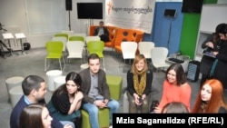 Georgia -- Students of Radio Tavisupleba Media School in Tbilisi, 21Feb2013