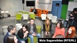 Georgia -- Students of Radio Tavisupleba Media School in Tbilisi, 21Feb2013