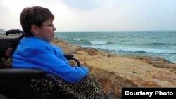 Алена Кароль падчас паездкі ў Ізраіль