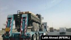قافلة اميركية تحمل وثائق تابعة للقوات المنسحبة