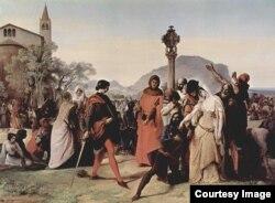 """Франческо Айец. """"Сицилийская вечерня"""". 1846"""