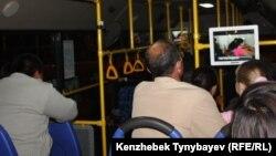 Алматы автобустарының бірі. Көрнекі сурет. 16 қазан 2011 жыл