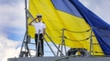 A Ukrainian Navy sailor is pictured during the U.S.-led Sea Breeze 2018 military exercises near Odesa on July 16.