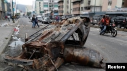 Беспорядки в венесуэльской столице. Каракас, 24 января 2019 г.
