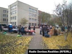 Продуктовая ярмарка во время так называемых «выборов» в Донецке
