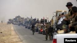 قوات من الحشد الشعبي في محيط الرمادي