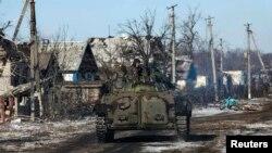 Русия яклы сепаратистлар Дебальцеводан ерак булмаган Никишино авылында