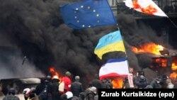 В центре Киева – утром 23 января 2014 года