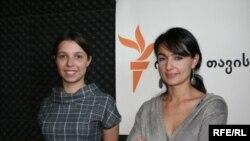 ეკა სირაძე-დელონე (მარჯვნივ) და ნინო ლომჯარია