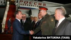 D.Medvedev Toshkent xalqaro aeroportida, 2019, 29 may.