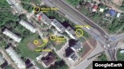 Карта карстовых провалов в квартале на улице Интернациональная