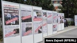 Pamje nga protesta kundër Ligjit mbi amnistinë..