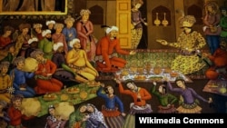 Shah Abbas I and his court