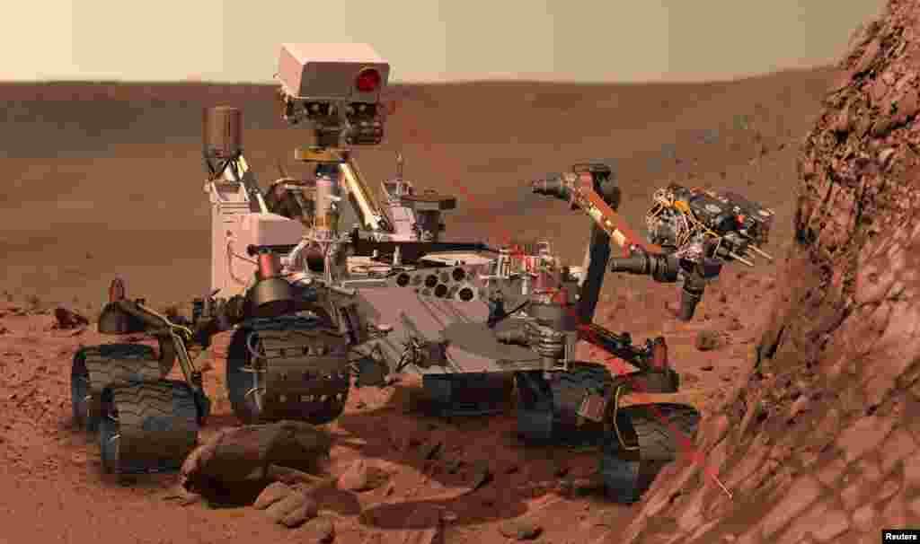Animacija kojom se pokazuje obavljanje zadatka rovera Curiosity na Marsu u naredne dvije godine